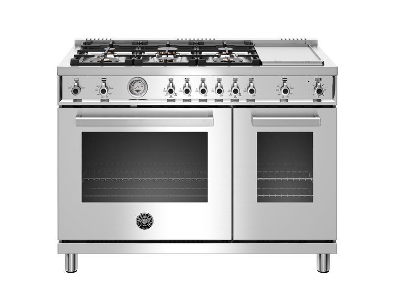 New 48 Inch 6 Burner + Griddle, Gas Double Oven