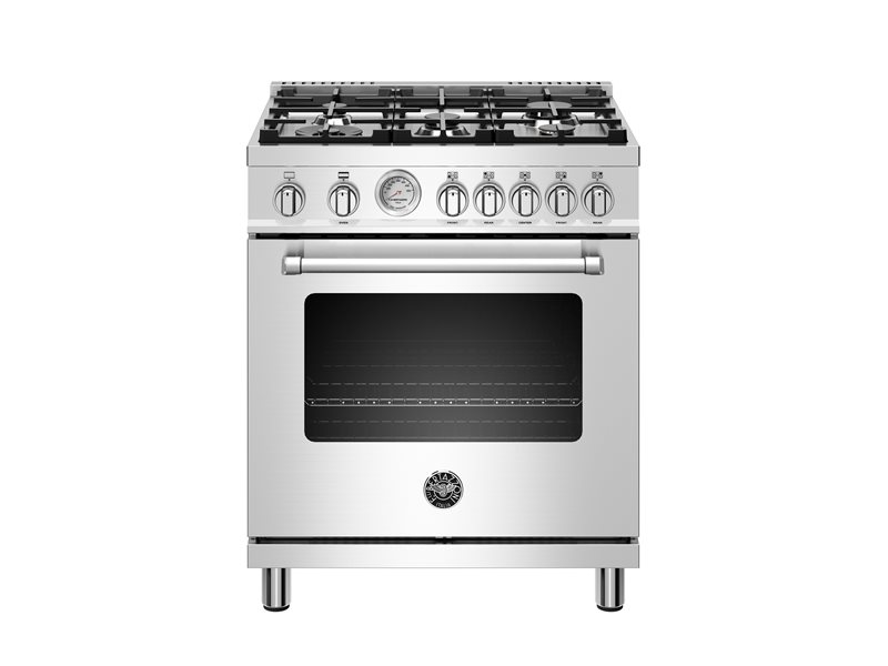 30 inch All Gas Range, 5 Burners | Bertazzoni - Stainless