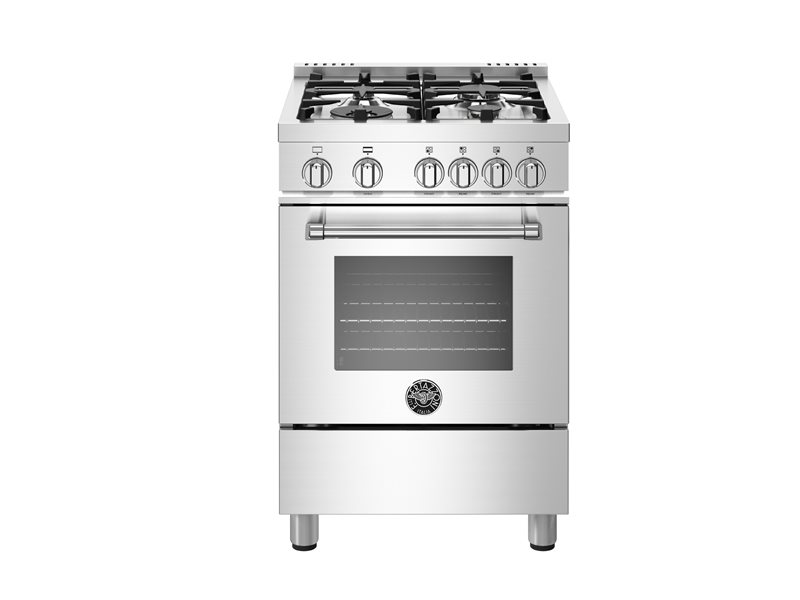 24 inch All Gas Range, 4 Burners | Bertazzoni - Stainless Steel