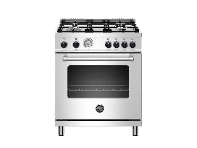 30 inch All Gas Range, 4 Burner | Bertazzoni - Stainless Steel