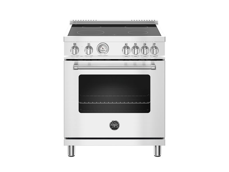 30 inch Electric Range, 4 Heating Zones, Electric Oven | Bertazzoni - Stainless Steel