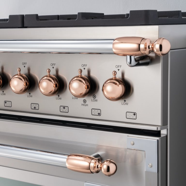 Copper décor set for Range and Hood | Bertazzoni - Copper