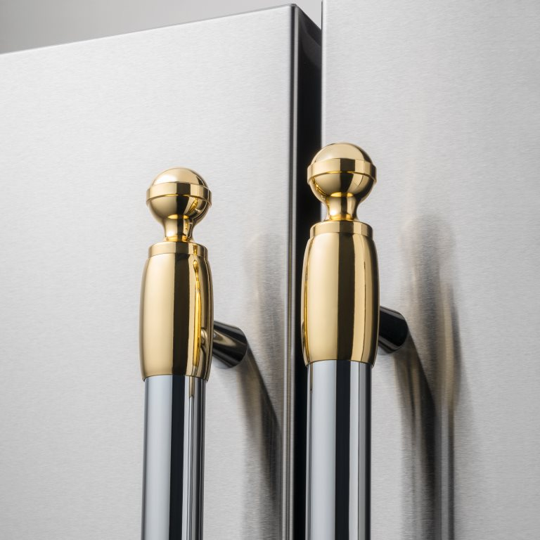 Gold décor set for Refrigerator and Dishwasher | Bertazzoni - Gold