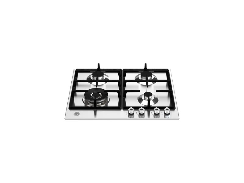 24 Front Control Gas Cooktop 4 burners | Bertazzoni - Stainless Steel