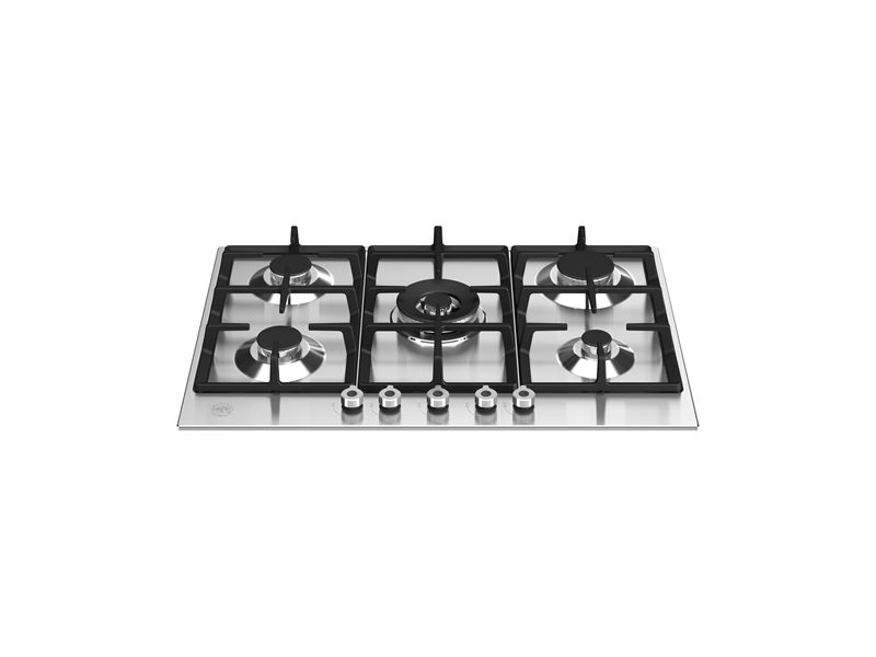 30 Front Control Gas Cooktop 5 burners | Bertazzoni - Stainless Steel
