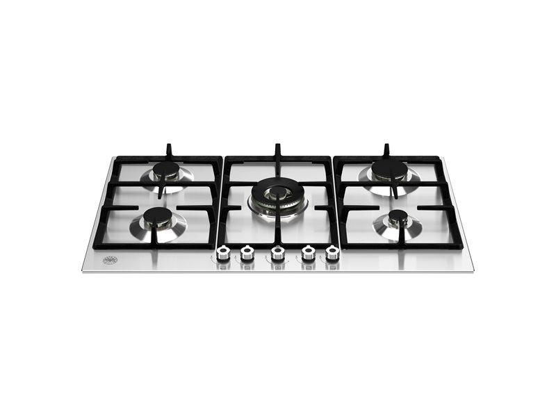 36 Front Control Gas Cooktop 5 burners | Bertazzoni - Stainless Steel