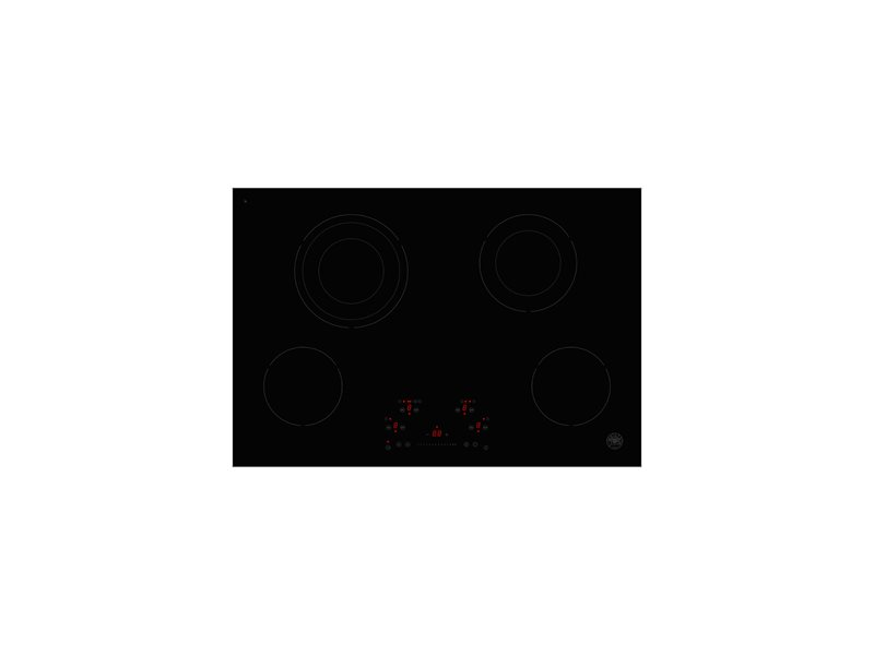24 Ceran Touch Control Cooktop 4 heating zones | Bertazzoni - Nero