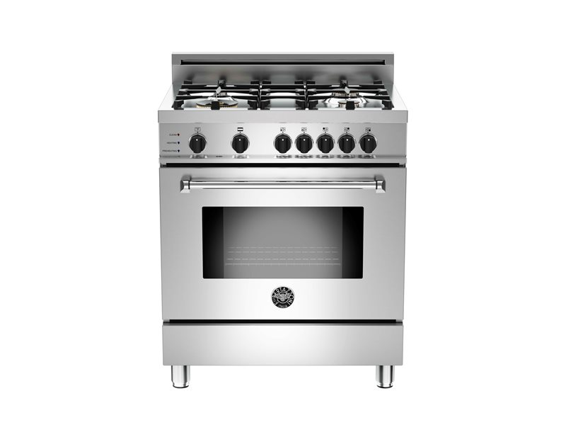 30 4-Burner, Electric Self-Clean Oven | Bertazzoni - Stainless