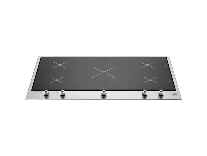 36 Segmented Cooktop 5 induction zones | Bertazzoni - Stainless Steel