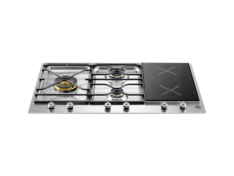 36 Segmented Cooktop 3-burner and 2 induction zones | Bertazzoni - Stainless