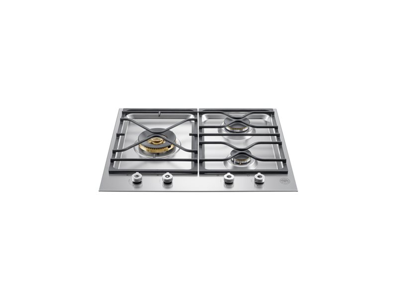 24 Segmented cooktop 3-burner | Bertazzoni - Stainless Steel