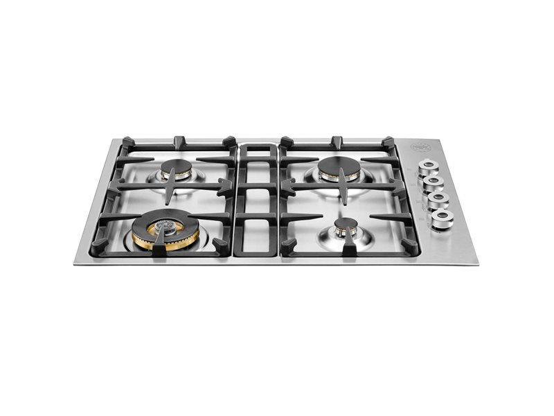 30 Drop-in low edge cooktop 4-burner | Bertazzoni - Stainless Steel