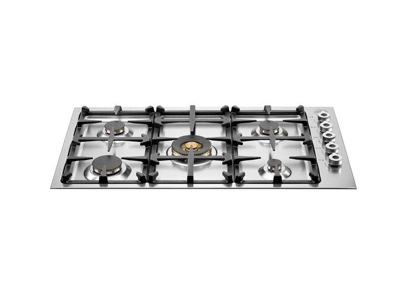 36 Drop-in low edge cooktop 5-burner | Bertazzoni - Stainless