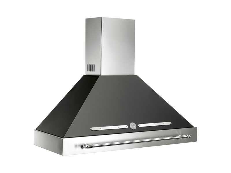 48 Wallmount Canopy and Base Hood, 1 motor 600 CFM | Bertazzoni - Matt Black