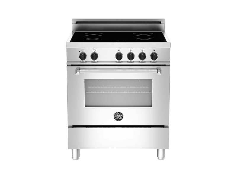 30 4-Induction Zones, Electric Oven | Bertazzoni - Stainless