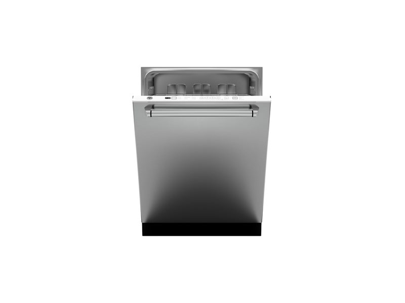 24 Panel Installed Dishwasher 14 settings 48dB | Bertazzoni - Stainless Steel