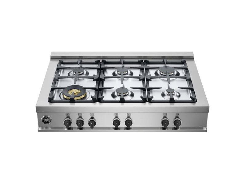 36 Rangetop 6 Burners | Bertazzoni - Stainless Steel
