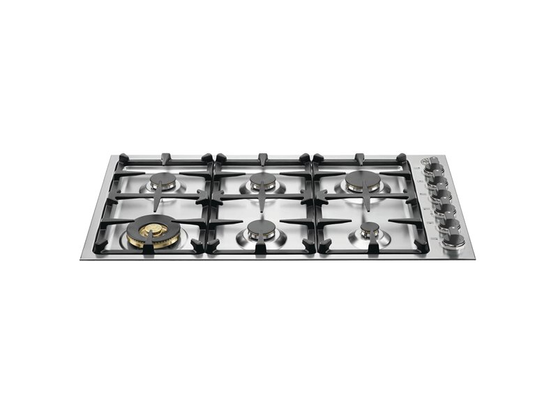 36 Drop-In Low Profile 6 Burners | Bertazzoni - Stainless Steel