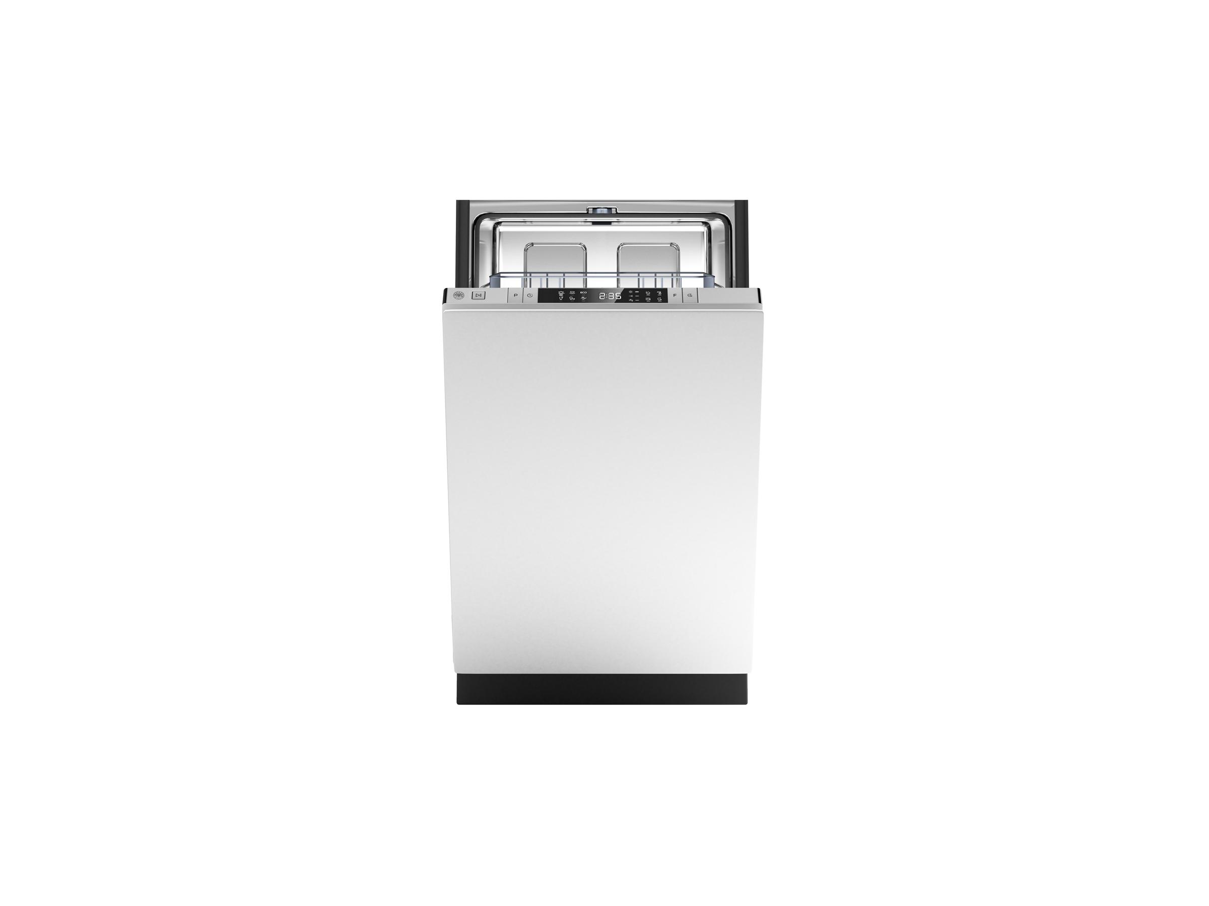 18 Panel Ready Dishwasher 8 Settings 49db Bertazzoni Stainless