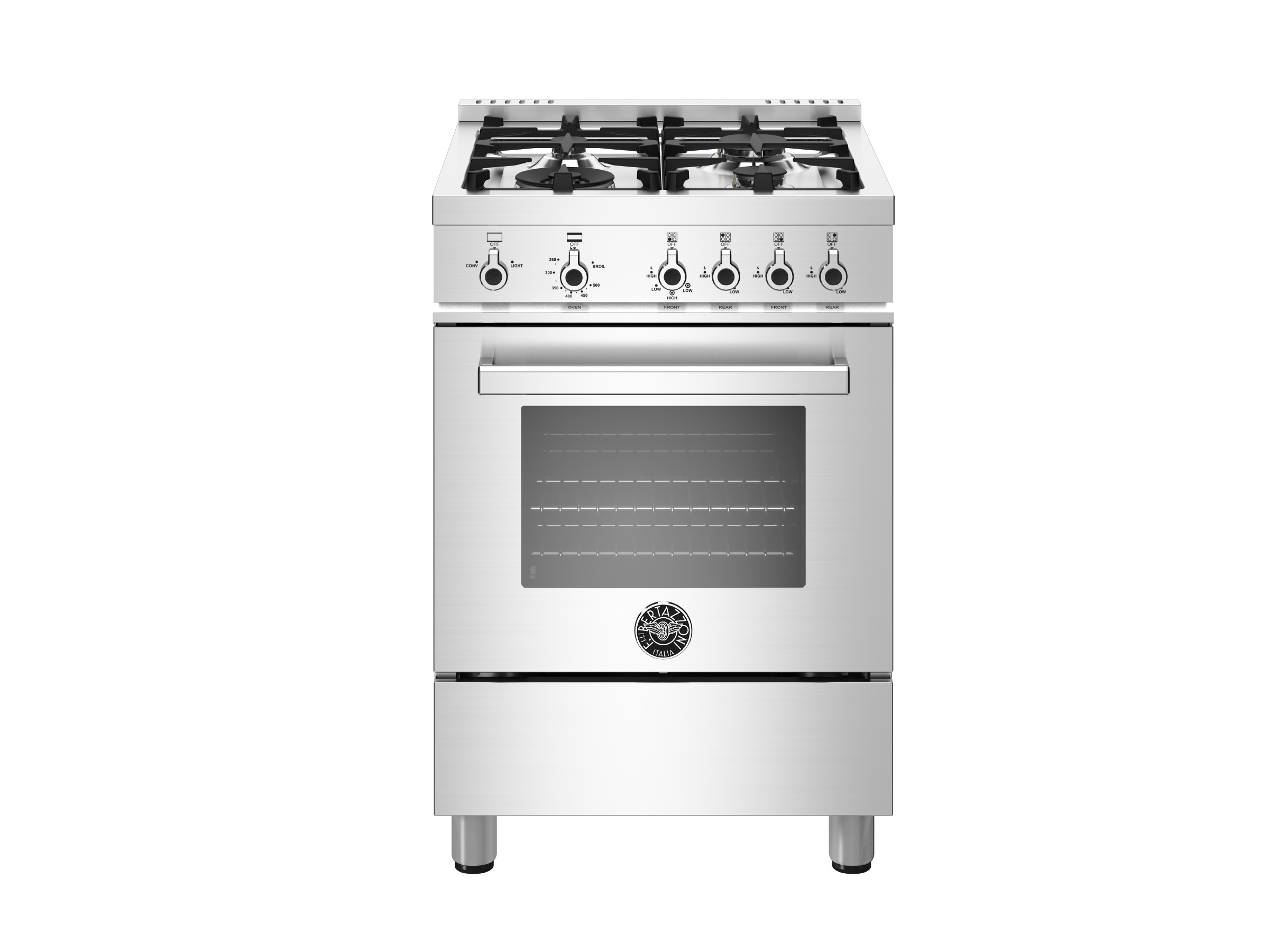 24 Inch All Gas Range 4 Burners Bertazzoni