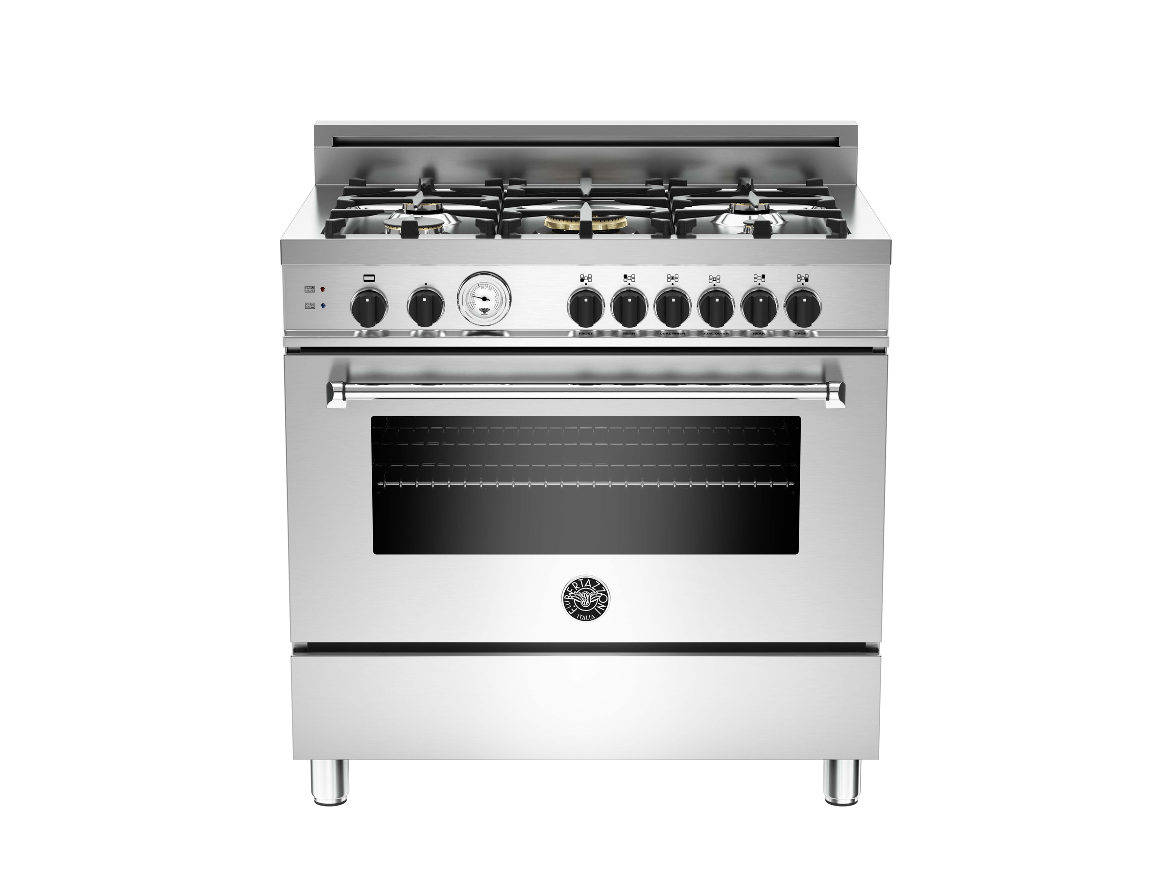 Gas Oven And Grill Part - 34: 36 5-Burner, Gas Oven | Bertazzoni - Stainless