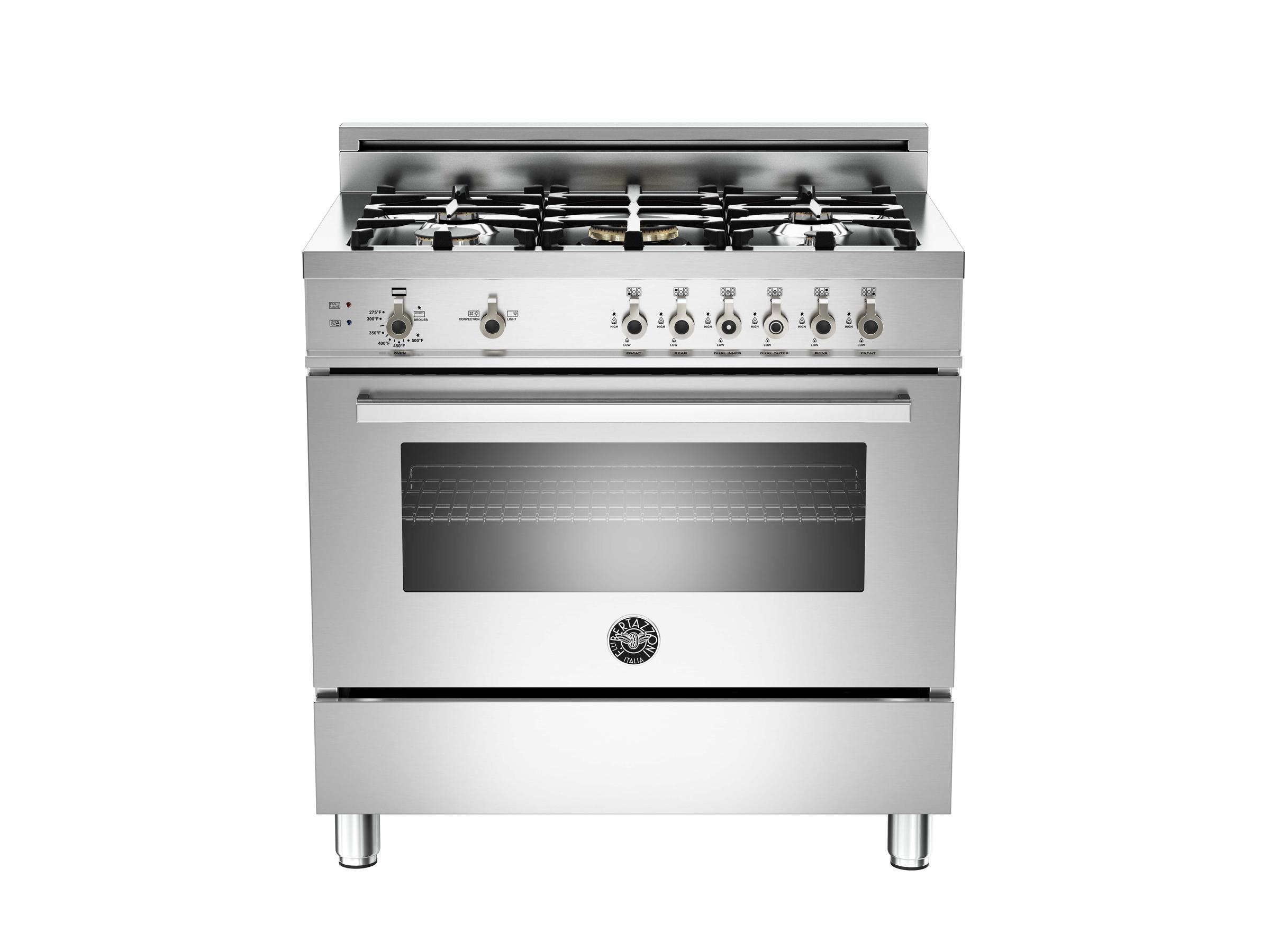 Gas Range With Gas Oven 36 5 Burner Gas Oven Bertazzoni
