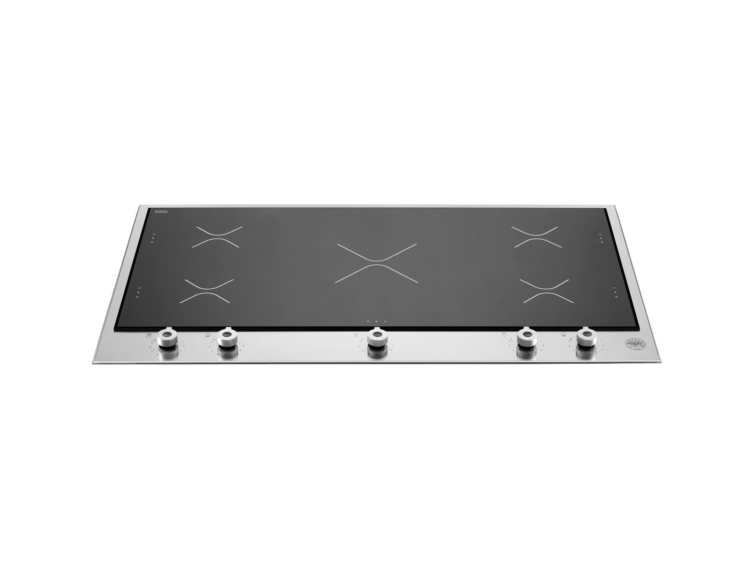 36 Segmented Cooktop 5 induction zones | Bertazzoni - Stainless