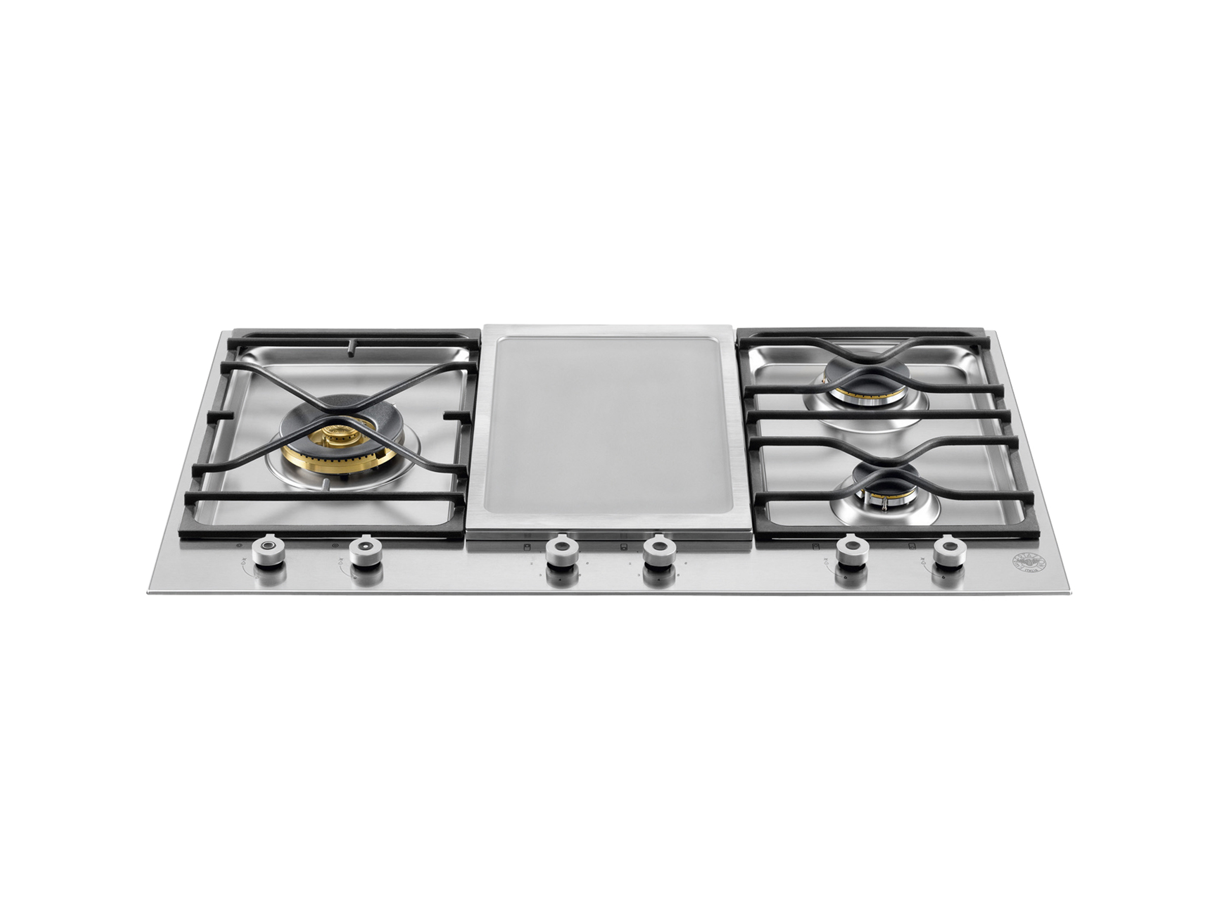 36 Segmented Cooktop 3 Burner And Griddle | Bertazzoni   Stainless