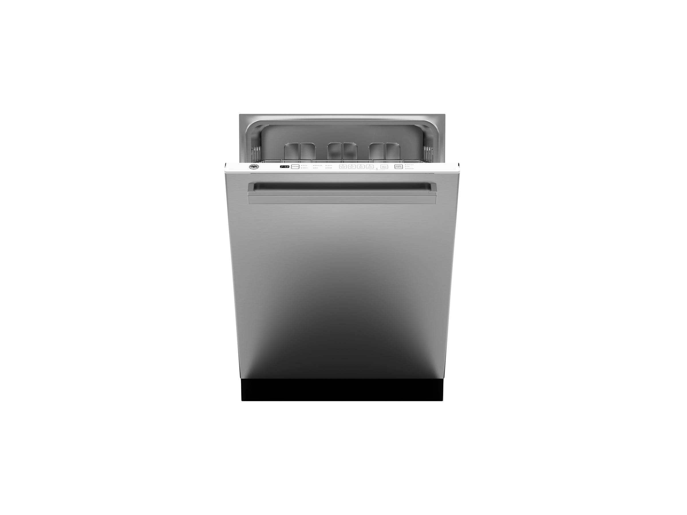 24 Panel Installed Dishwasher 14 settings 48dB | Bertazzoni - Stainless