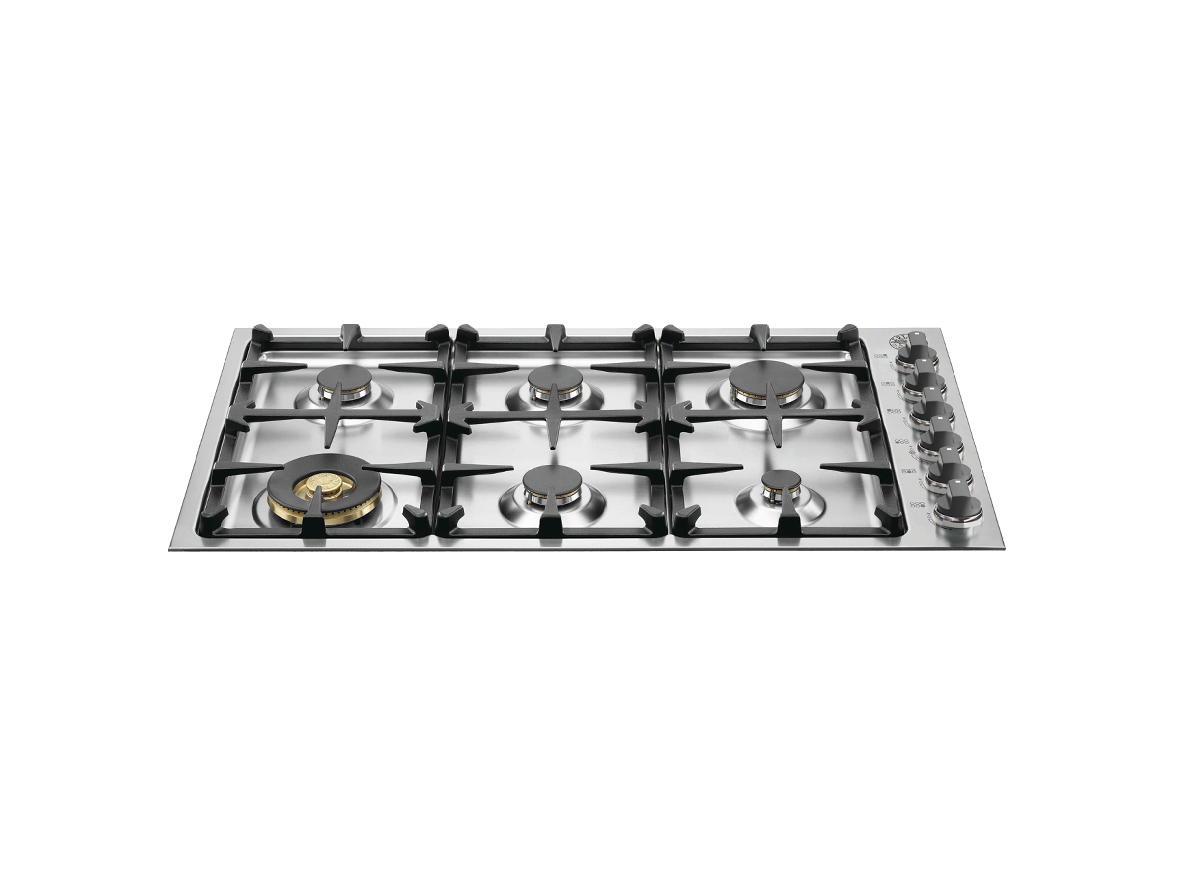 36 Drop-In Low Profile 6 Burners | Bertazzoni - Stainless